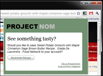 Project Nom - Chrome Extension