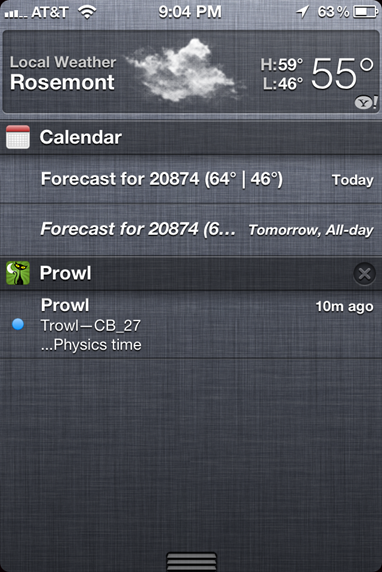Notification Center in iOS 5